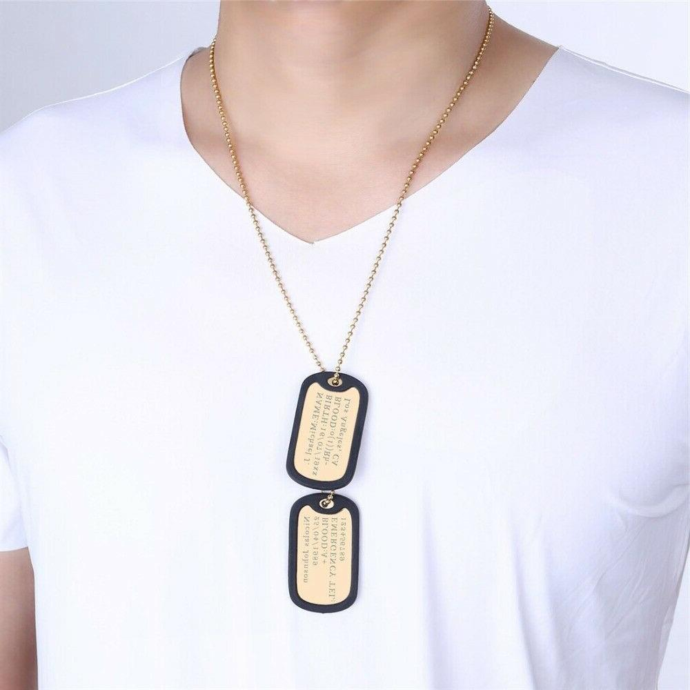 Mens Dog Tags Jewelries Gifts