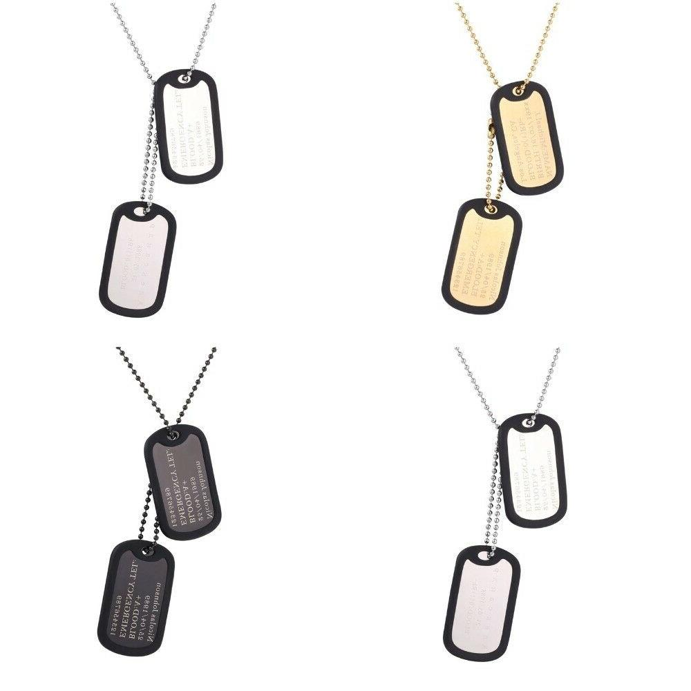 mens engraved dog tags personalized name pendant