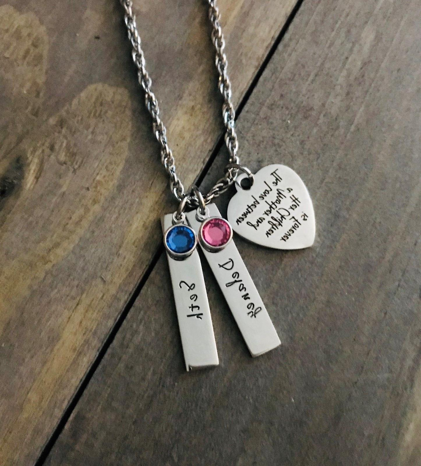 Mom Necklace Personalized son birthstone mother