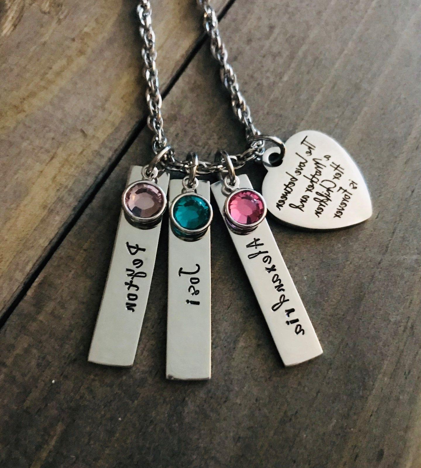 mom necklace personalized daughter son child s