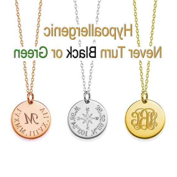 name 3 4 disc necklace custom engraved