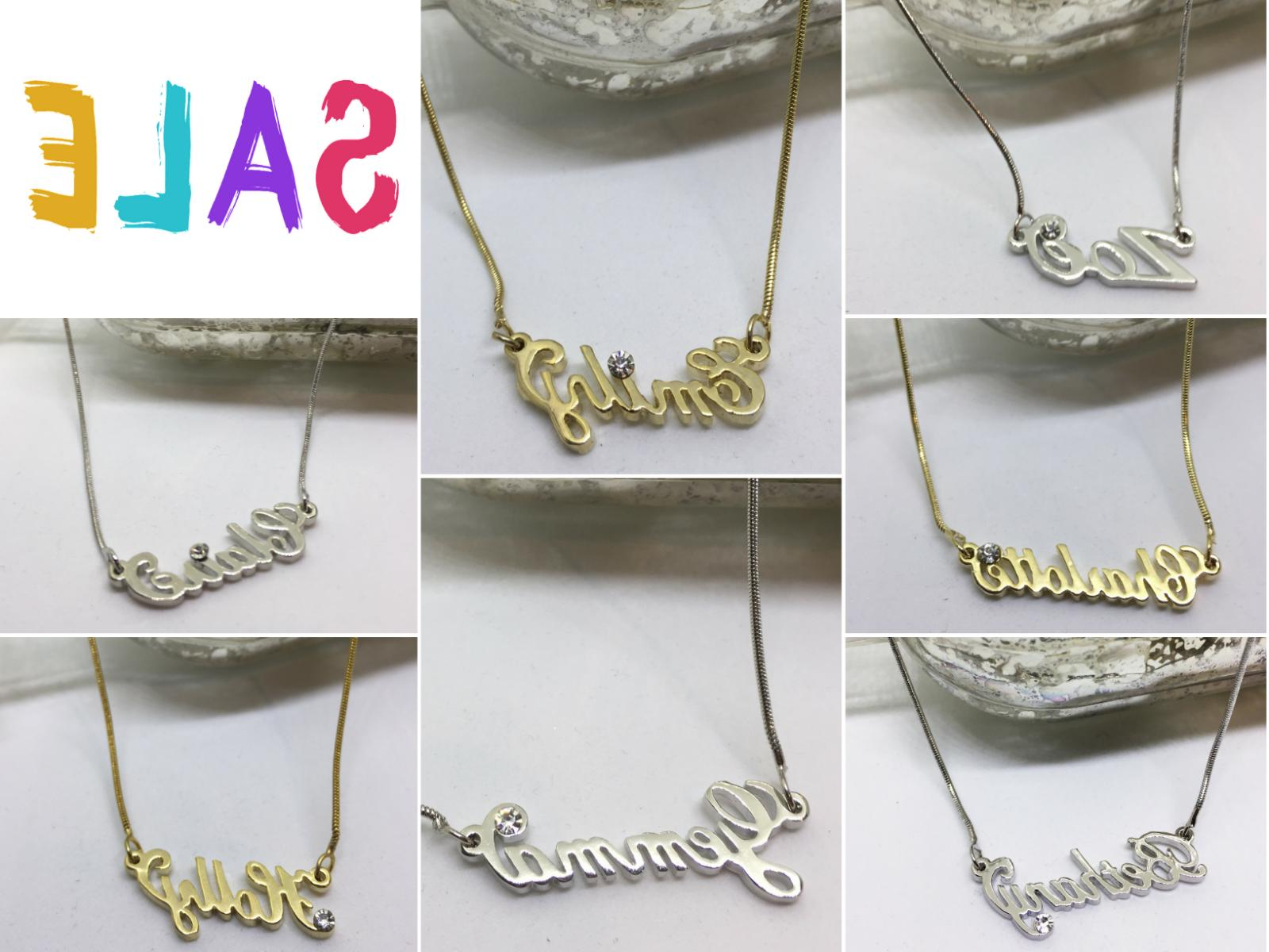 Name Necklace Gold Christmas Stocking