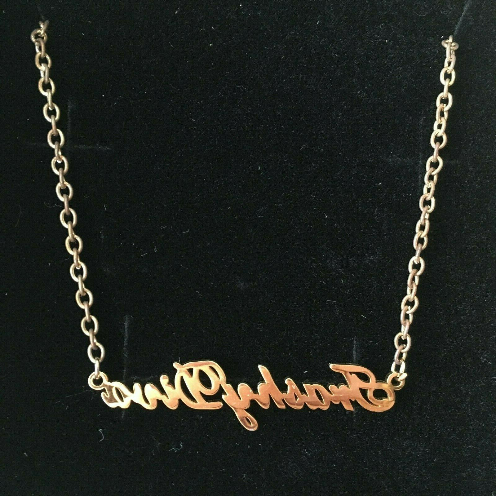 Trashy Diva Plate Necklace chain
