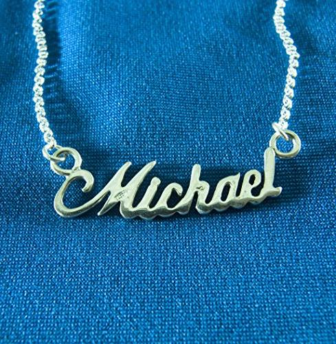 Necklace pendant necklaces personalized name Michael new