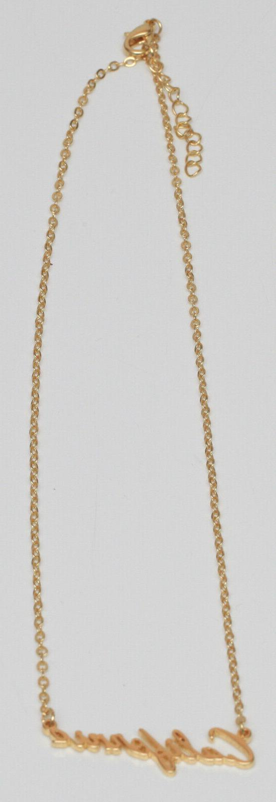 """New Pendant Plate Toned Chain 18"""" Cali Style"""