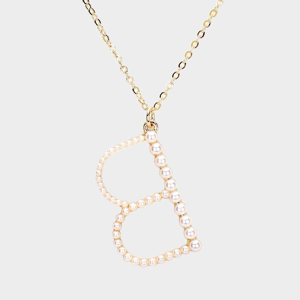 NEW Initial Letter Monogram Gold Necklace