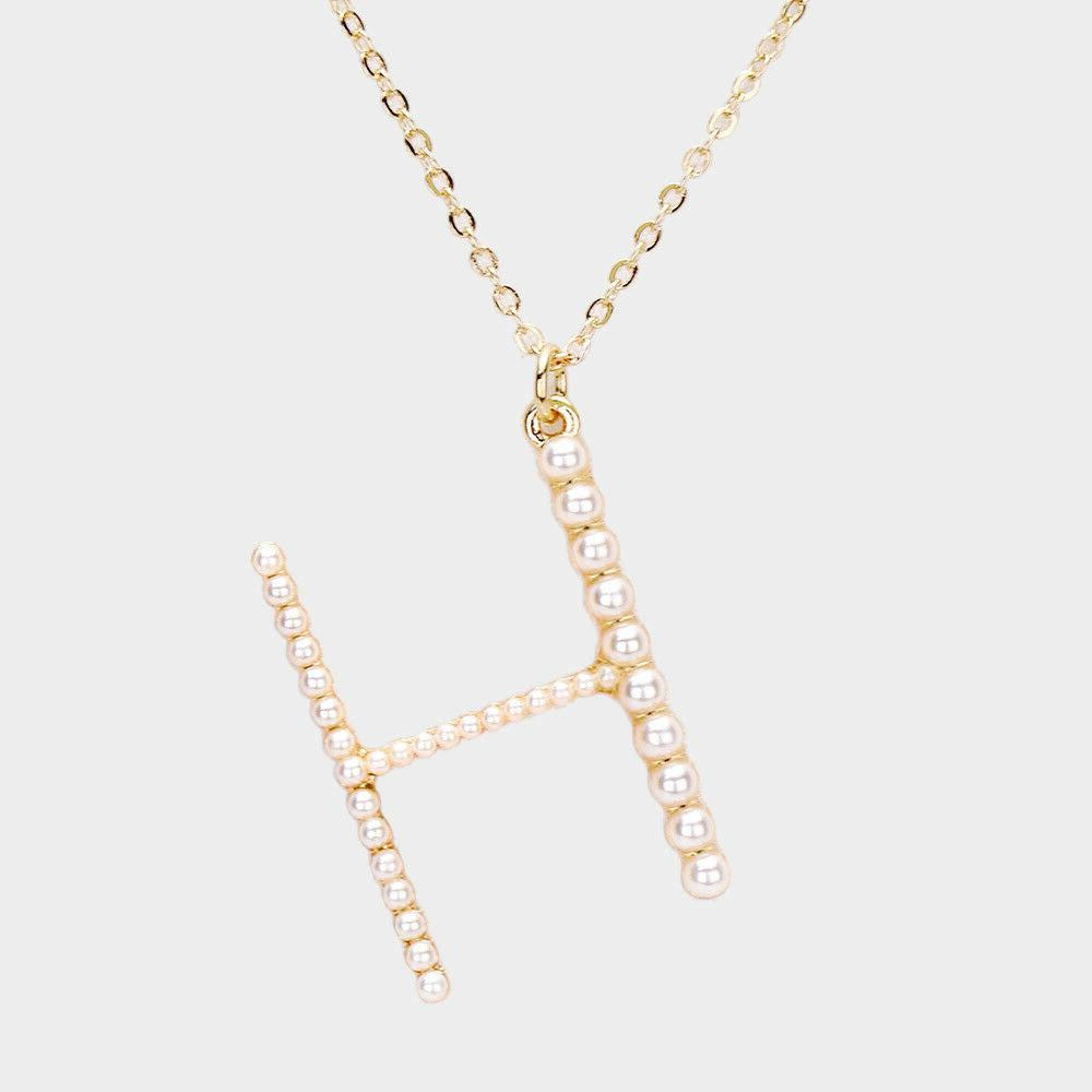 NEW Pearl Initial Gold Chain