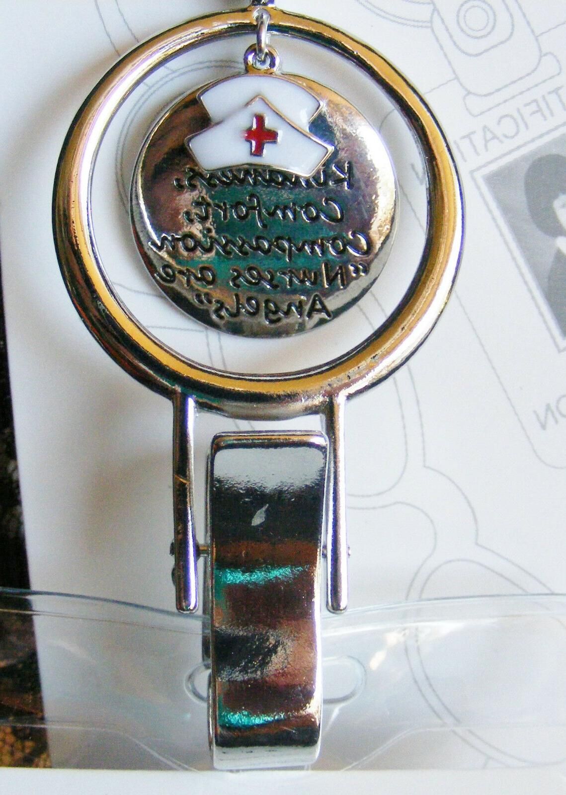 Nurse Charms are ID Badge Name Holder Necklace Lanyard