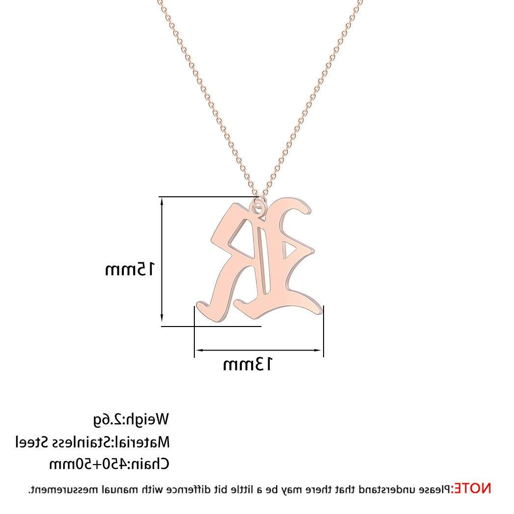 Old Capital A-Z Necklaces Women