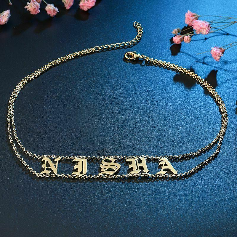 Old Choker Nameplate Personalized Name Letters