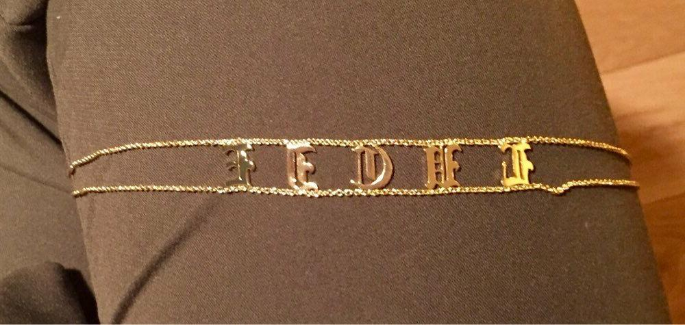 Old English Choker Nameplate Name Letters