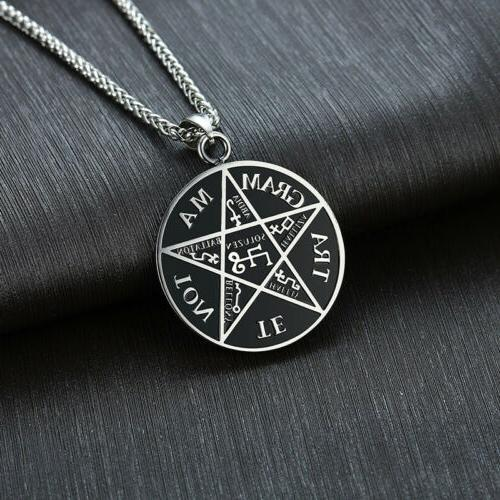 Pentagram Solomon Tetragrammaton God Men Necklace Star Amulet