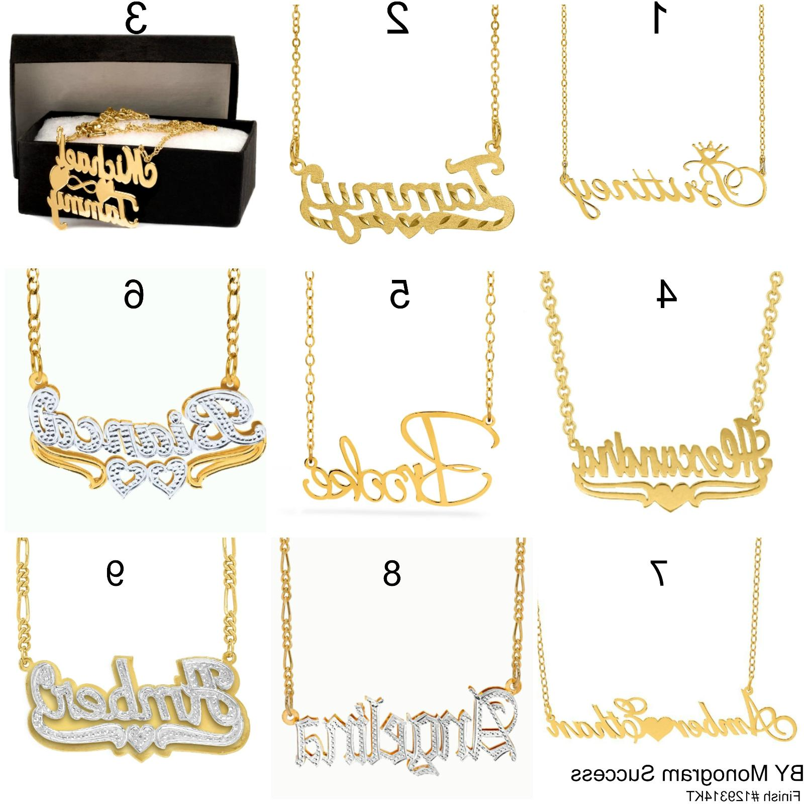 personalized sterling silver 14kgold any name plate