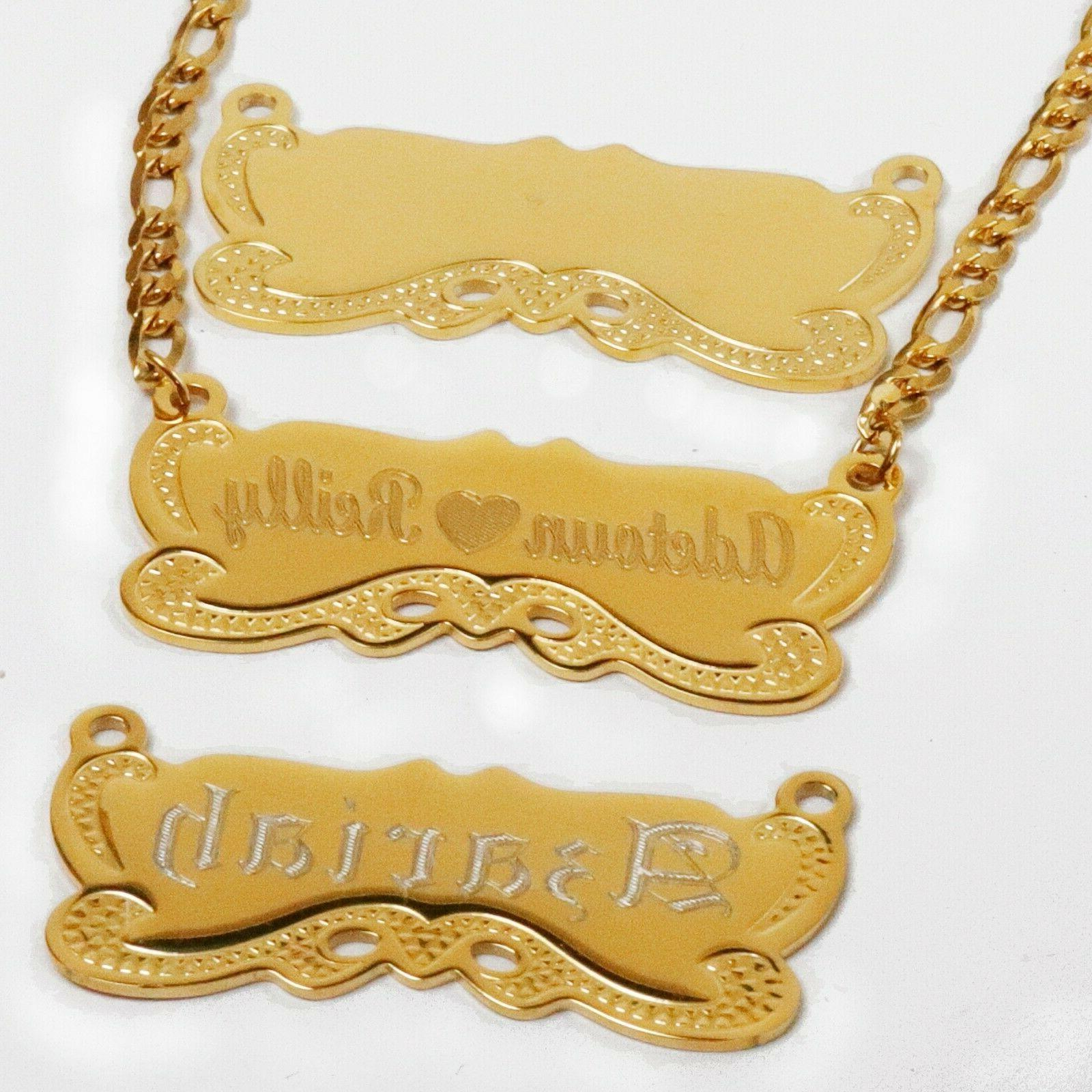 Personalized Any Name Script Chain Necklace Styles