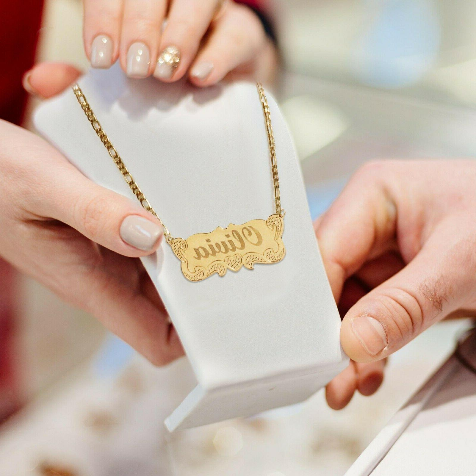 tina and co personalized 14k gold plated