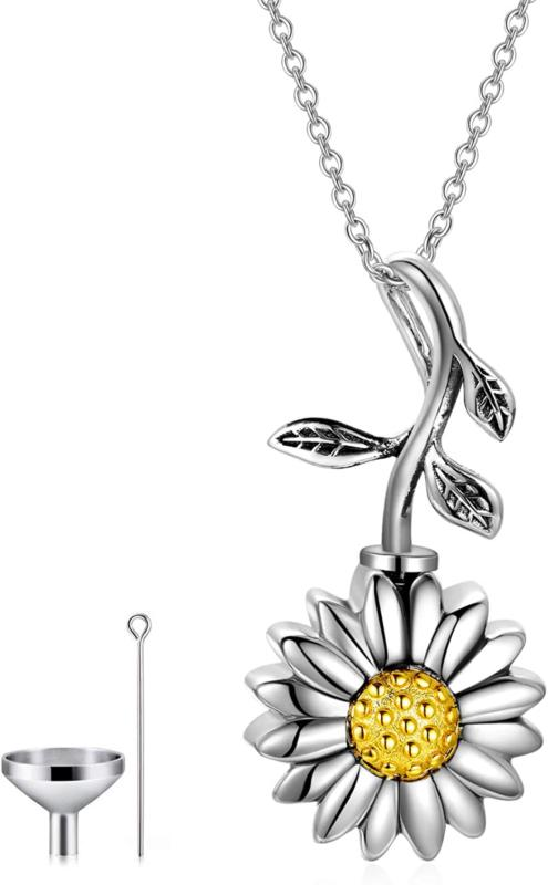 Personalized 925 Sterling Silver Name Urn Bar Disc Necklace