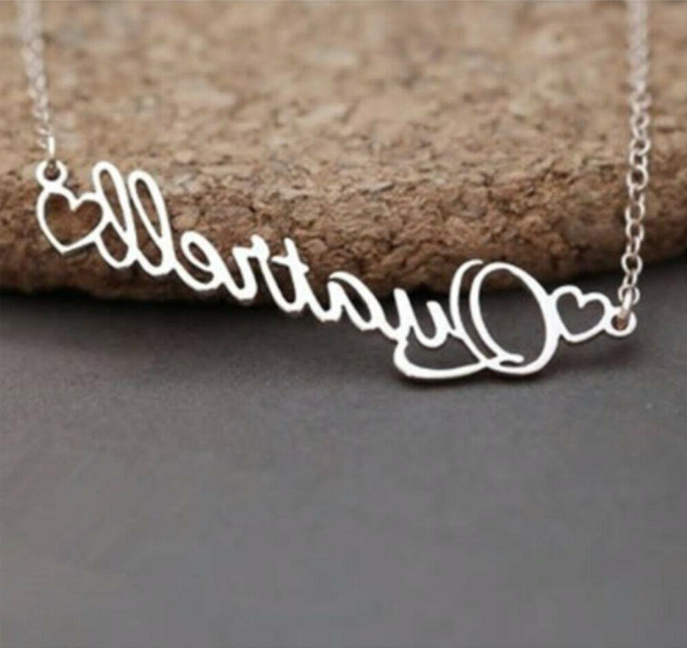 Personalized Any Heart Jewelry Love Pendant