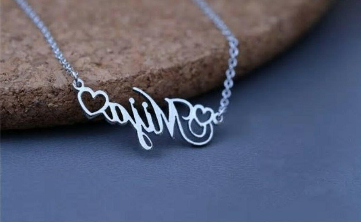 Personalized Any Name Heart Necklace Jewelry