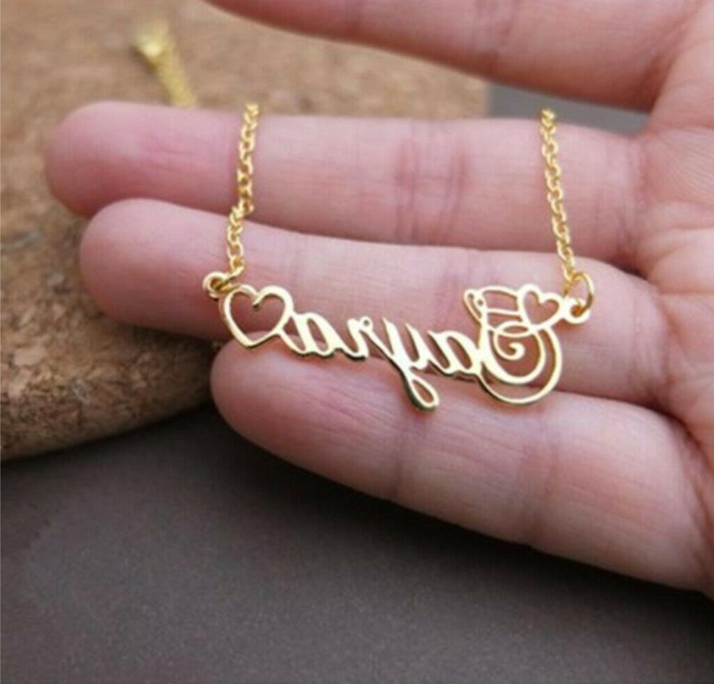 personalized any name custom heart necklace men