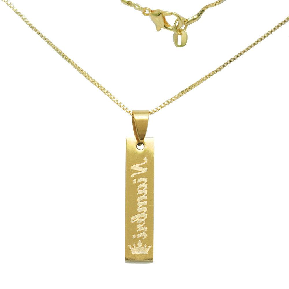 Personalized Bar Necklace Engarved Nameplate Necklace