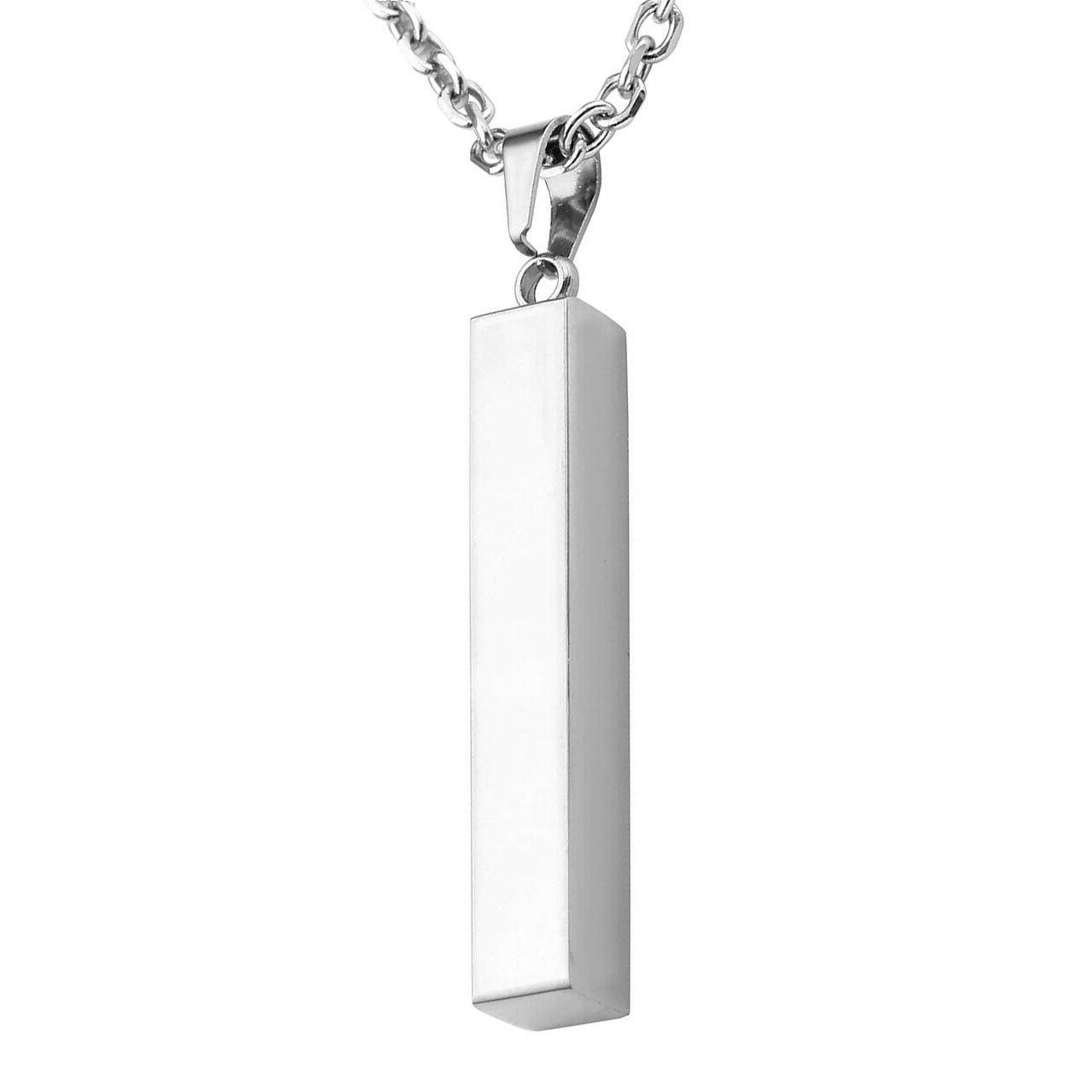 Personalized Engraved Name Stainless Bar Pendant