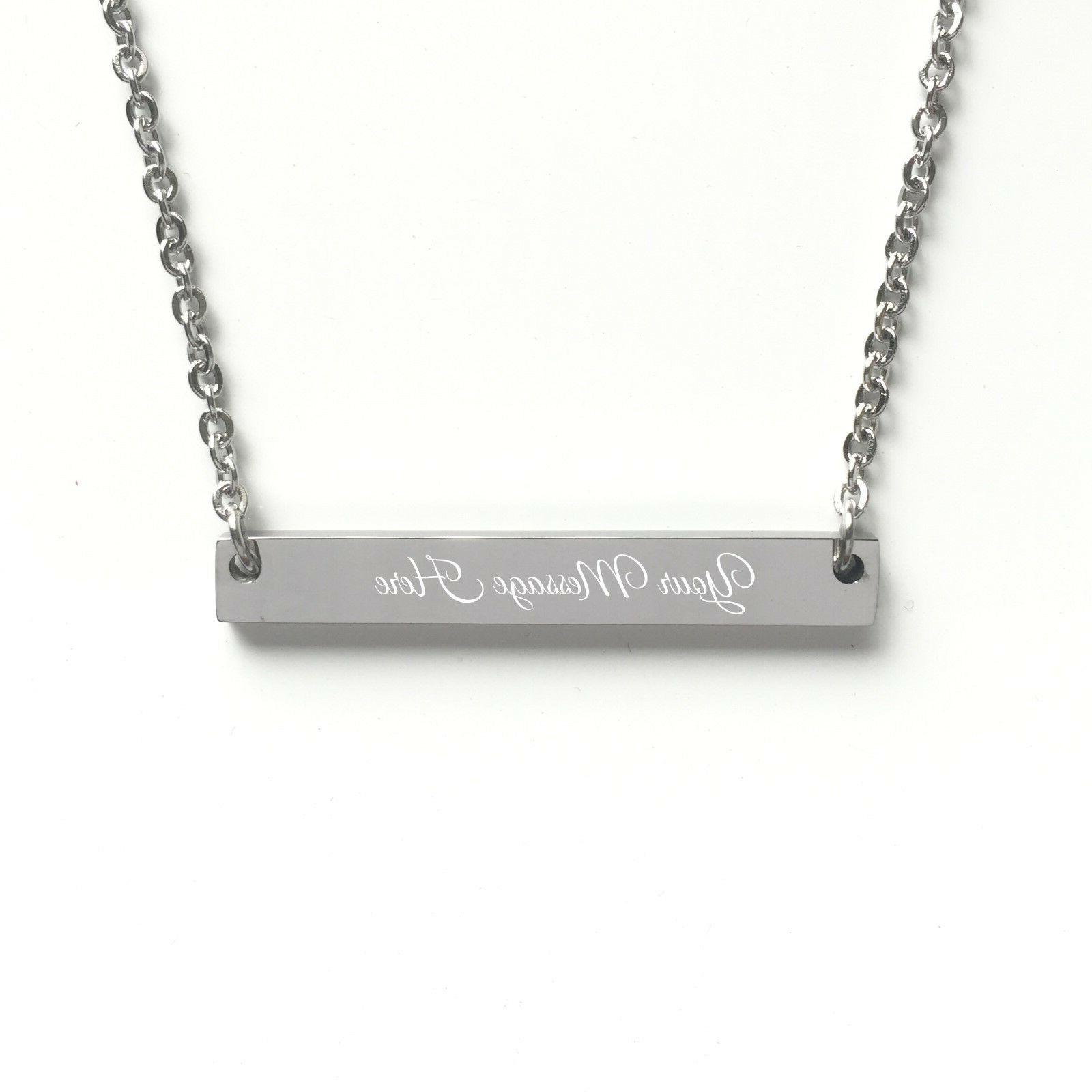 Personalized Custom Name Bar Necklace