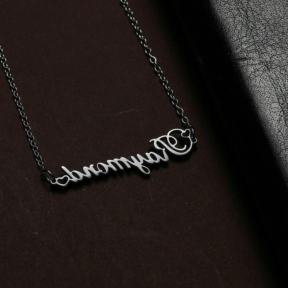 Personalized Necklace Nameplate Stainless Pendant