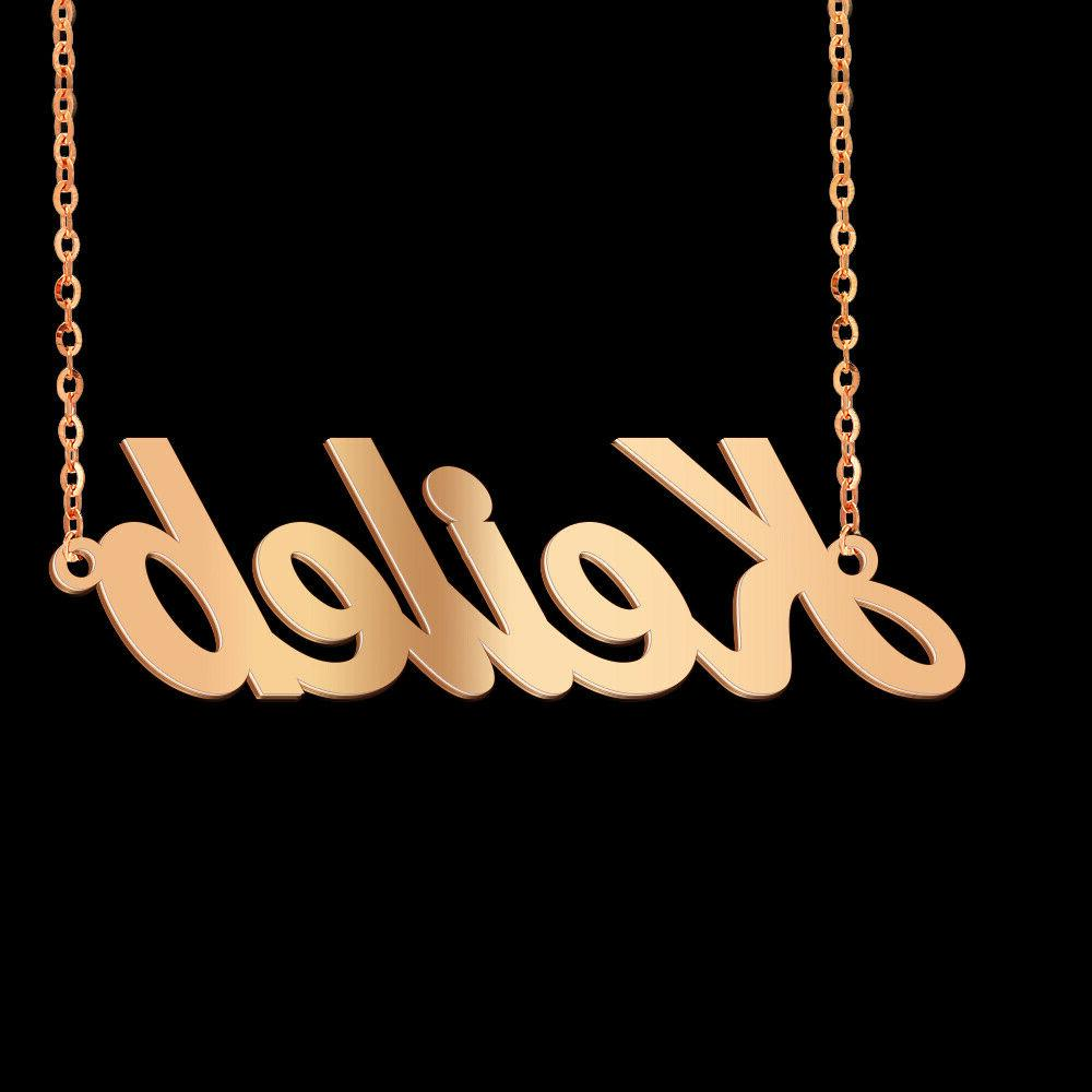 Amaxer Christmas Personalized Custom Name Pendent Necklace Steel Gift
