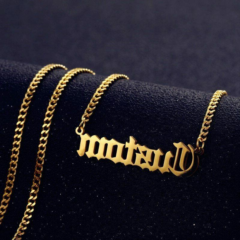 personalized custom name necklace pendant gold cuban