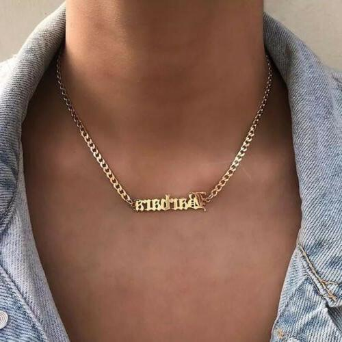 personalized custom name real stainless steel necklace
