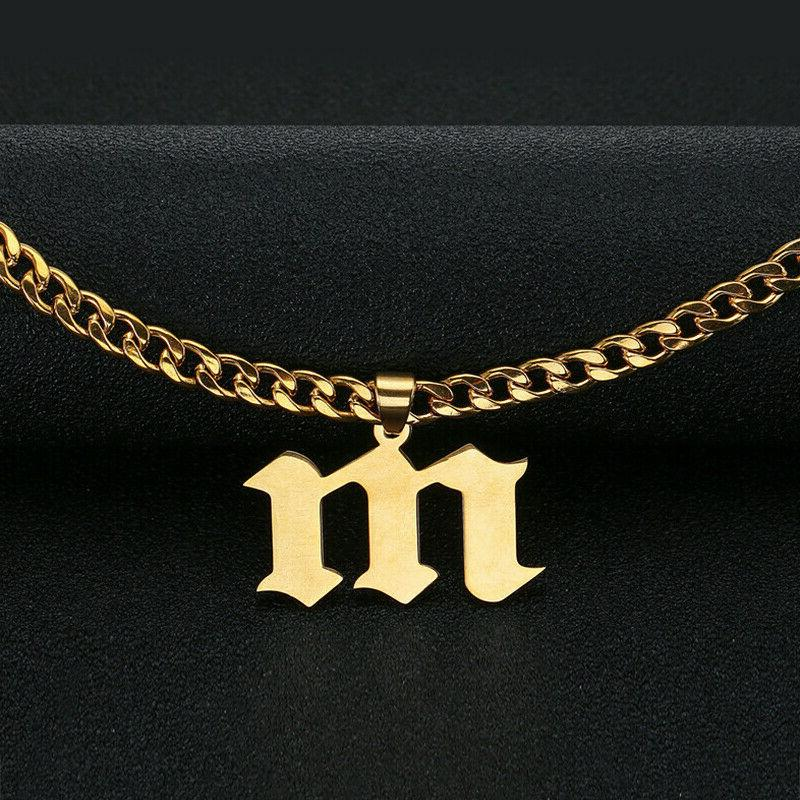 Personalized Steel Curb Engraving Necklace New