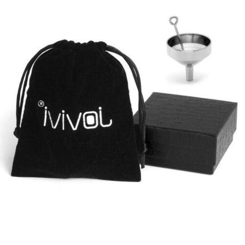 Jovivi Personalized Custom Name Stainless Steel Heart Urn Necklace Cremation...