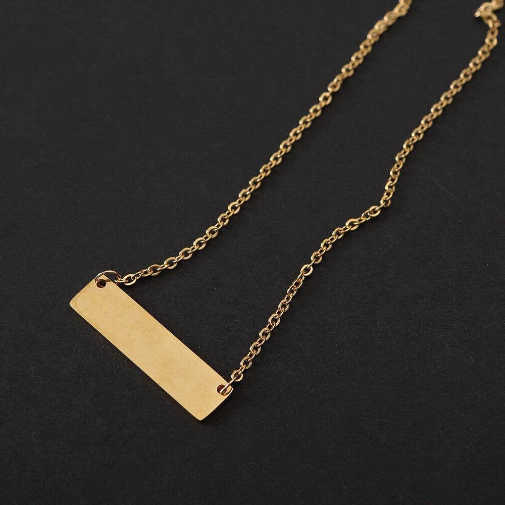 Personalized 2-Sides Your Name Necklace Pendant