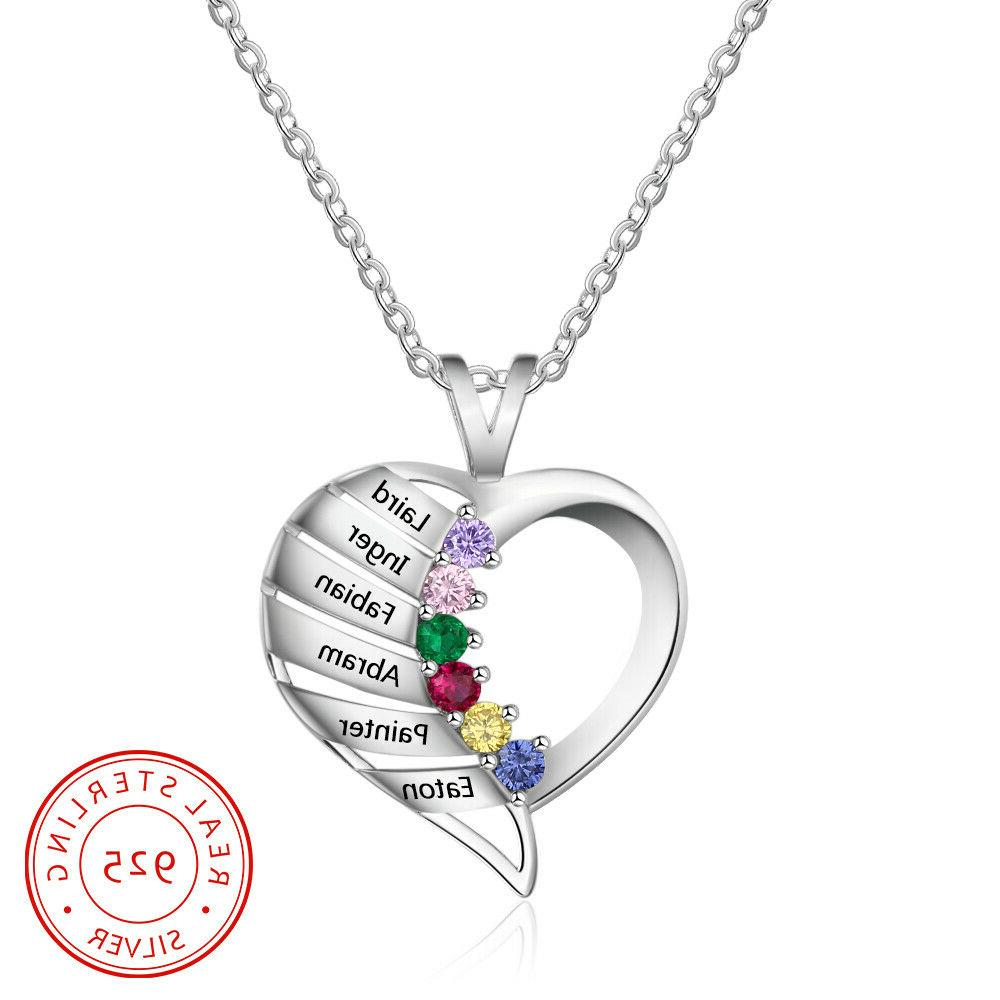 Personalized Engraved Necklace 6 Mom