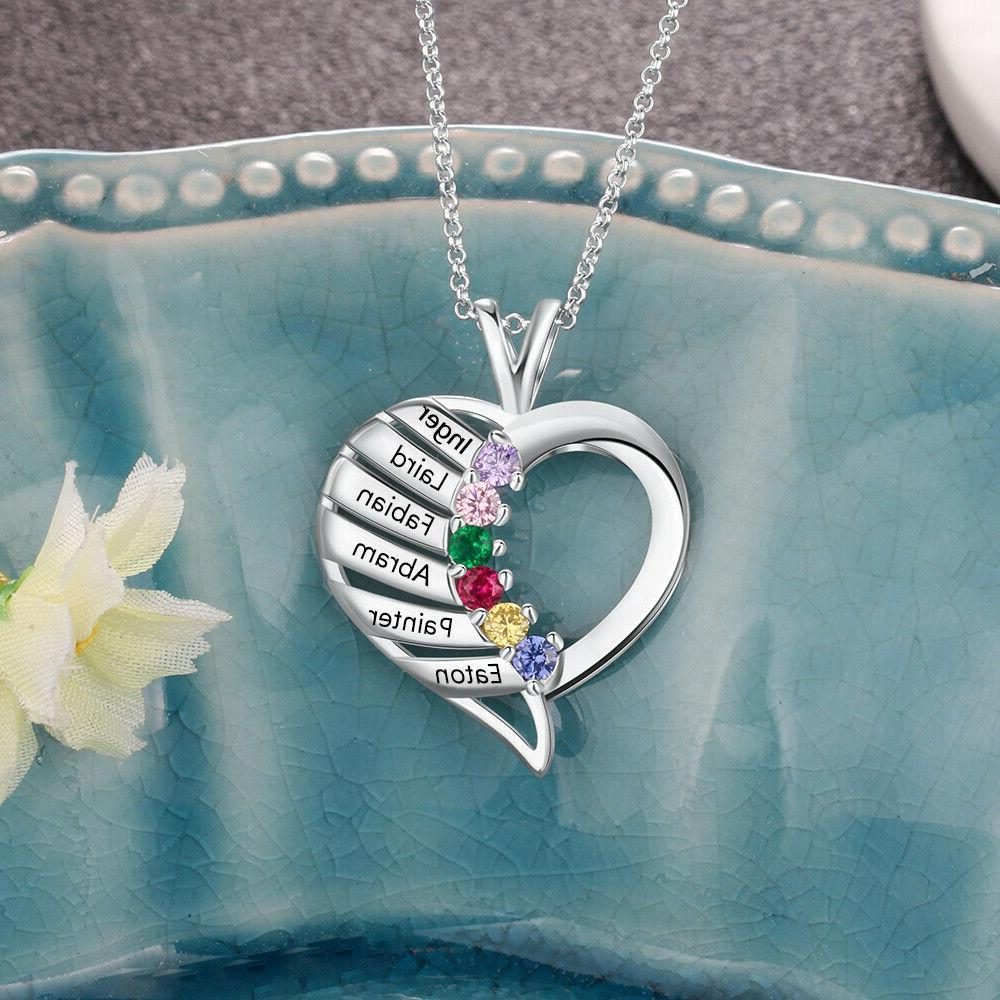 Personalized Silver 6 Name Mom Children