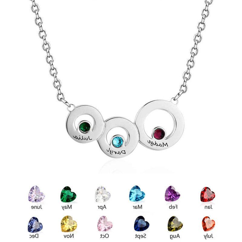 Personalized Names Birthstones for Mother Kids