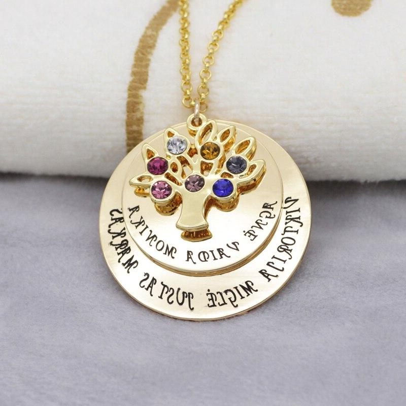 Personalized <font><b>Necklace</b></font> Birthstones New Custom YP2548