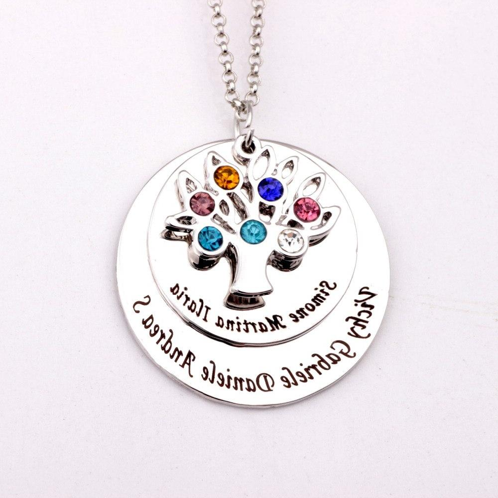 personalized family tree pendant font b necklace