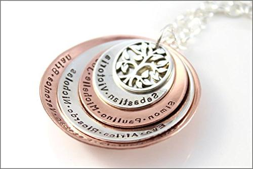 personalized grandma necklace four disc