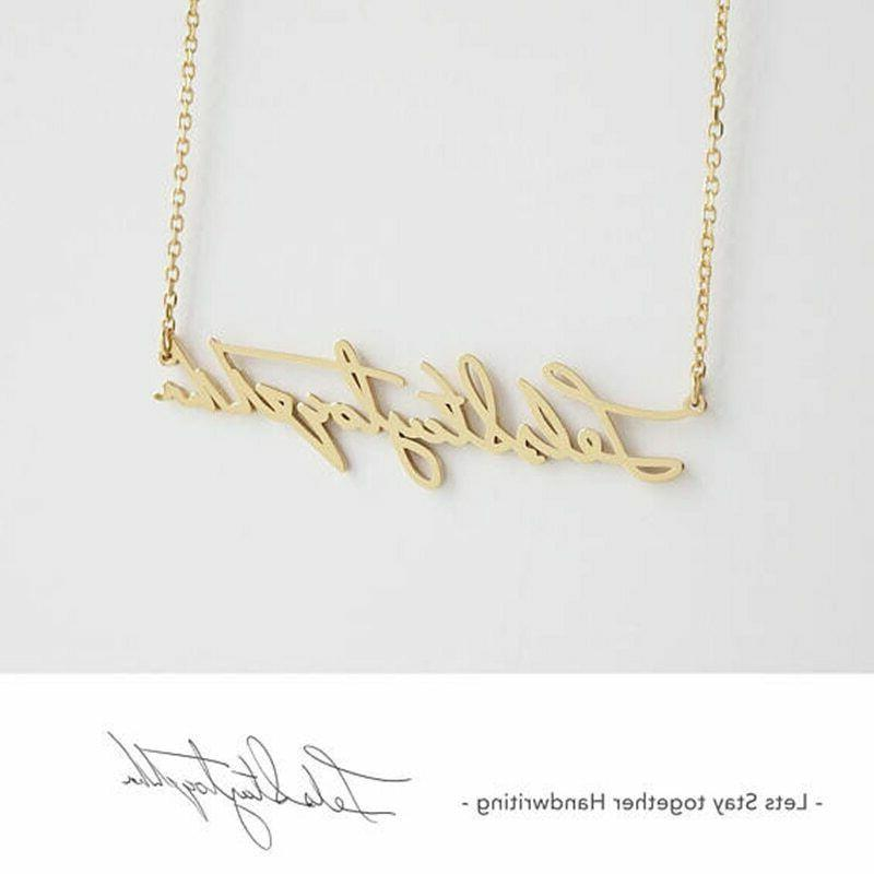 Personalized Pendant Necklaces Letters Gift