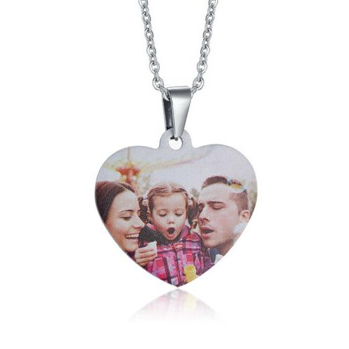 Personalized ID Picture Photo Necklace Pendant Love Heart