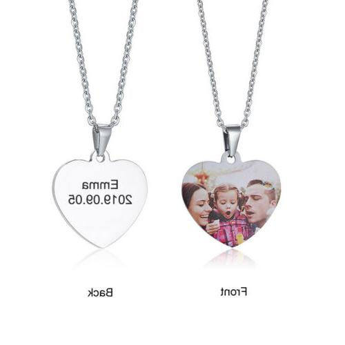 Personalized Picture Photo Necklace Pendant Love Heart