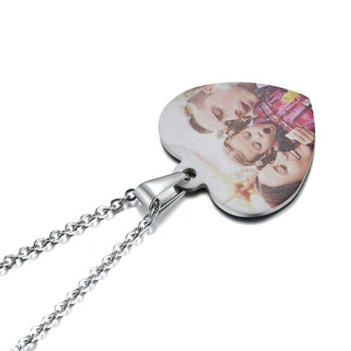Personalized ID Picture Necklace Love Heart Gift