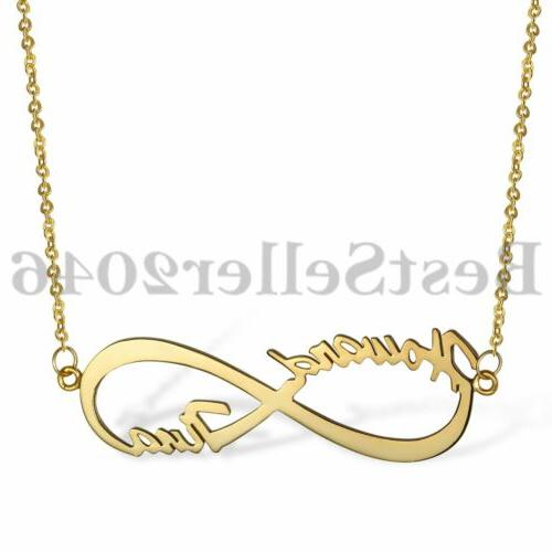Personalized Necklaces Custom Infinity 2 Any Name 925 Sterli