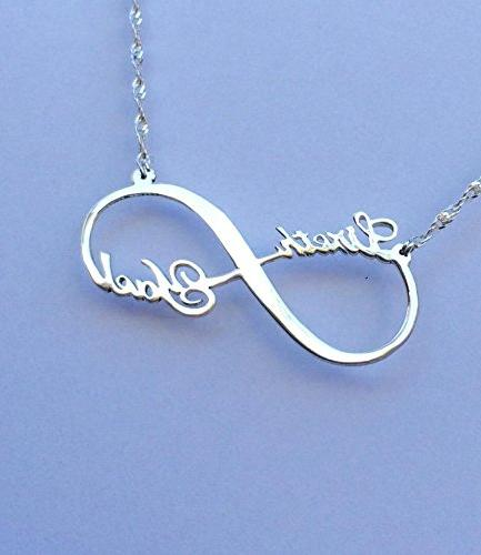 personalized infinity 2 name necklace