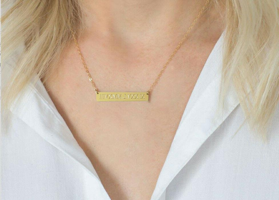 Personalized Name Necklace Gold Free Engraved