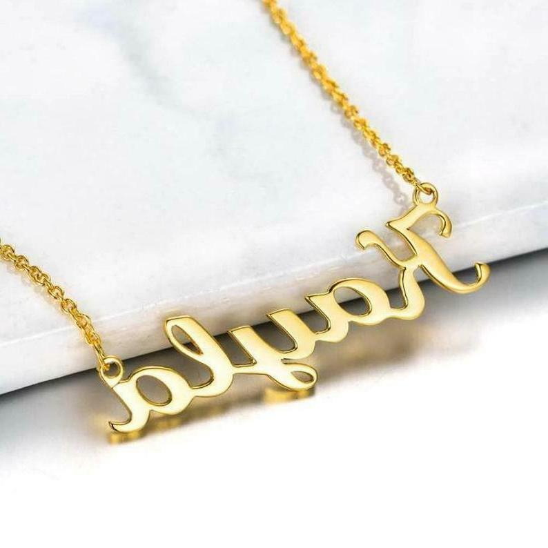 Personalized Bridesmaid Necklace Sterling Silver Necklace