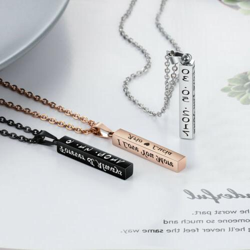 Personalized Necklace Free Engraved Name Women Pendant