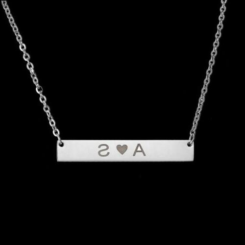 Personalized Name Necklace Custom Engraved Steel