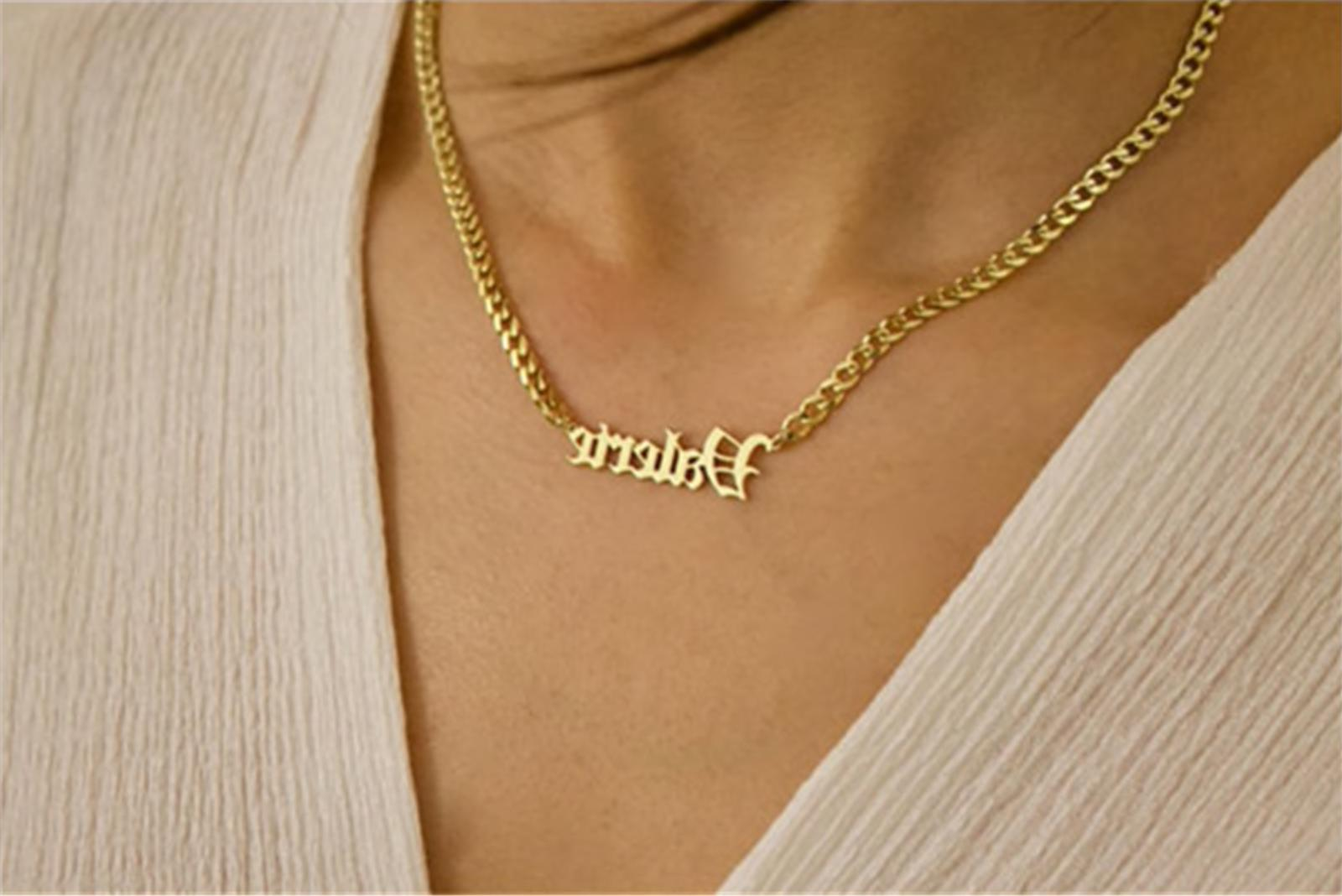 Personalized Name Necklace Old Custom